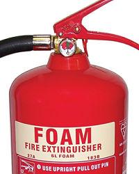 6 litre foam fire extinguisher